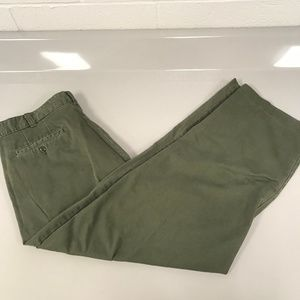 J. Crew 'Cottontwill Stonewashed' Green Chinos 38W